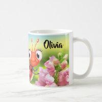 Custom ceramic mug Ladybug friendly Snap Dragons