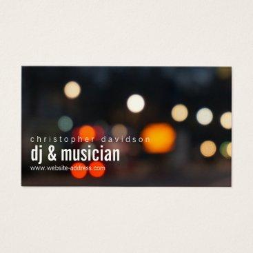 Custom DJ Ambient Lights Business Card