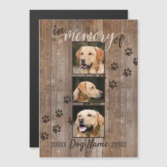 Custom Dog Memorial Rustic Wood Look