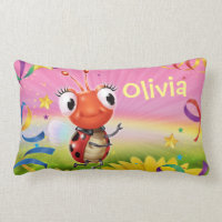 Custom girl's wide pillow Lil' Ladybug range