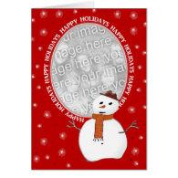 Custom Happy Holidays Snowman Card