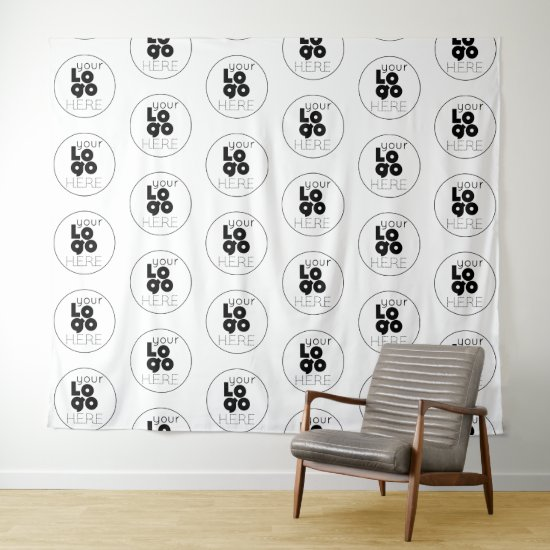 Custom Logo Step and Repeat Photo Booth Backdrop