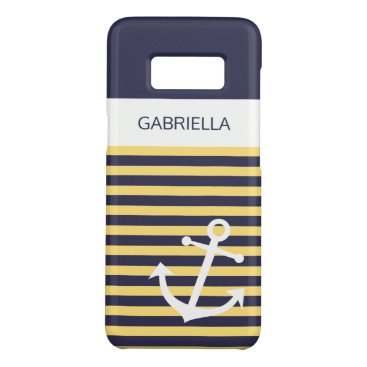Custom Nautical Sunny Summer Yellow Stripe Pattern Case-Mate Samsung Galaxy S8 Case