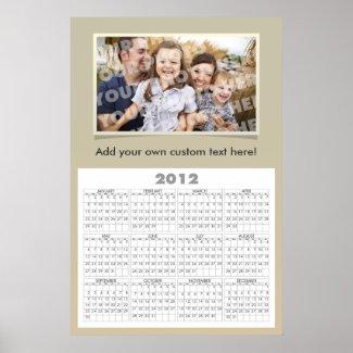 Custom Photo Calendar Poster Template print