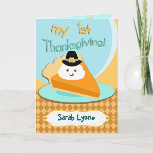 Custom Photo & Text Baby's First Thanksgiving Card