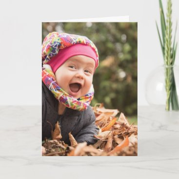 Custom Photo Text Design Your Own Folded Greeting Card