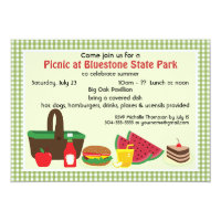 Custom Picnic at the Park Card