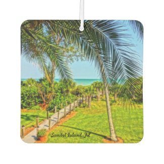 Custom Square Air Freshener Sanibel Island Florida