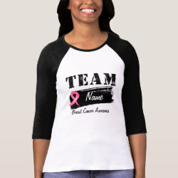 Custom Team Name - Breast Cancer Tee Shirts