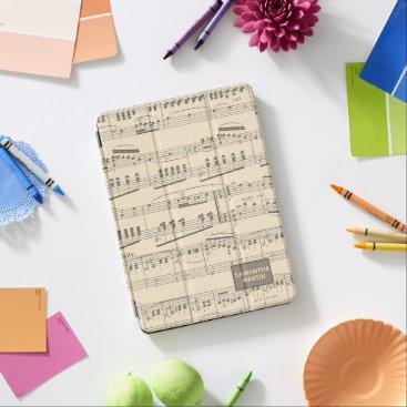 Custom Vintage Antique Sheet Music iPad Pro Cover