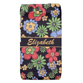 Custom Vivid Colorful Flowers to Personalize Motorola Droid RAZR Cases