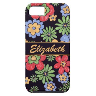 Custom Vivid Colorful Flowers to Personalize iPhone 5/5S Case