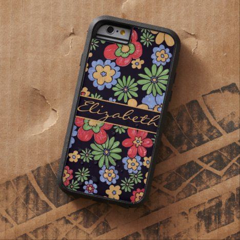 Custom Vivid Colorful Flowers to Personalize Tough Xtreme iPhone 6 Case
