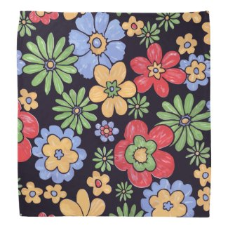 Custom Vivid Colorful Flowers to Personalize Kerchiefs