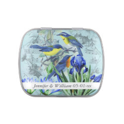 Custom Wedding Songbirds Wedding Favor Tin Jelly Belly Candy Tin