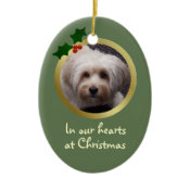 Customizable Christmas Dog Memorial Ornament ornament
