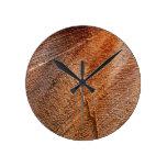 Cut Log Wood Grain Round Clock