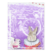 Cute Alice in Wonderland Bridal Shower Collage Card
