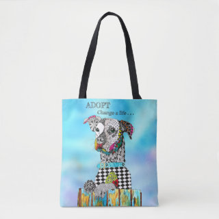 Cute and Colorful Dog Tote