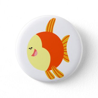Cute and Plump Cartoon Fish Button Badge button