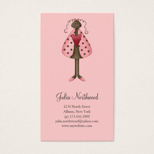Cute as a Bug · Ladybug Doll Business Card