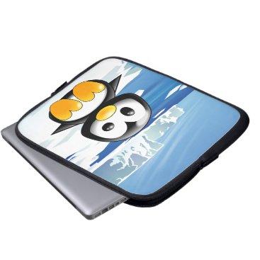Cute Baby Penguin Laptop Sleeve