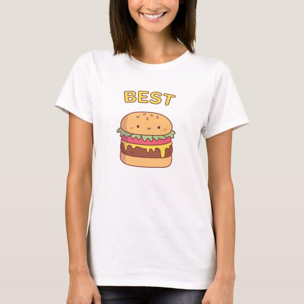 Matching BFF Burger and Fries Shirts