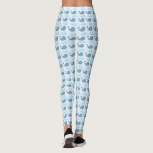 Cute Blue Whale Graphic Leggings