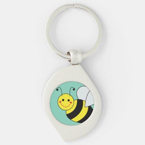 Cute Bumble Bee Keychain