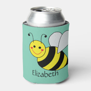 Cute Bumble Bee Personalized Can Cooler