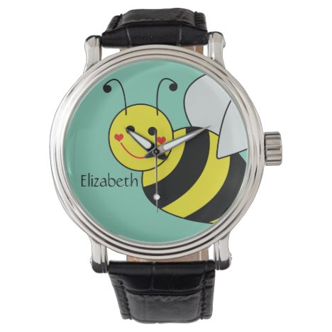 Cute Bumble Bee Personalized Wristwatch