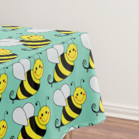 Cute Bumble Bee Tablecloth