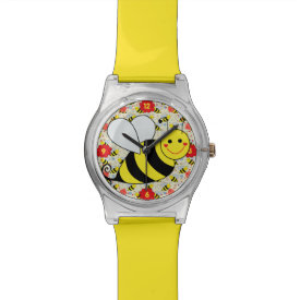 Cute Bumble Bee with Numbers Wrist Watch