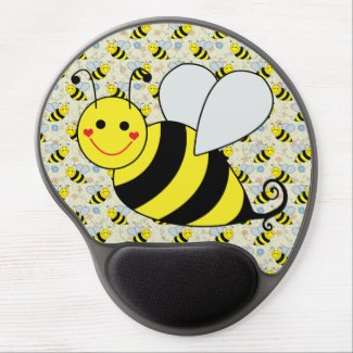 Cute Bumble Bee with Pattern Gel Mouse Pads