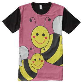 Cute Bumble Bees All-Over Print T-shirt