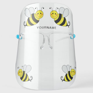 Cute Bumble Bees Personalized Face Shield