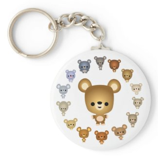 Cute Cartoon Bear Babies Keychain keychain