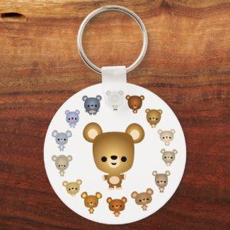 Cute Cartoon Bear Babies Keychain keychain