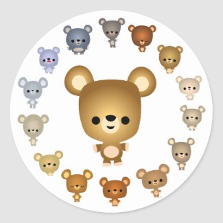 Cute Cartoon Bear Babies Sticker sticker