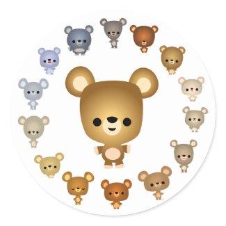 Cute Cartoon Bear Babies Sticker sticker