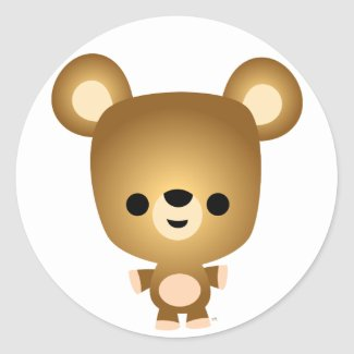 Cute Cartoon Bear Cub Sticker sticker