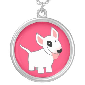 Cute Cartoon Bull Terrier Necklace necklace
