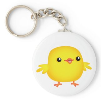 Cute Cartoon Chick :) keychain keychain