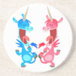Cute Cartoon Dancing Unicorns Coaster