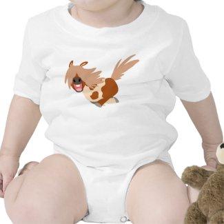 Cute Cartoon Happy Pinto Pony Baby Creeper shirt