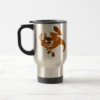 Cute Cartoon Kangaroo's Somersault Commuter Mug mug
