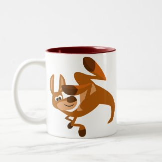 Cute Cartoon Kangaroo's Somersault Mug mug