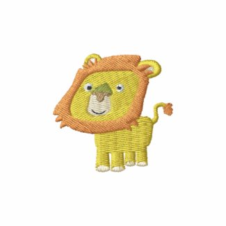 Cute Cartoon Lion embroidery Shirt embroideredshirt