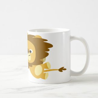 Cute Cartoon Lions in a Hurry Mug