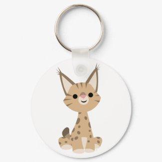 Cute Cartoon Lynx Keychain keychain